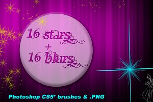 32 Star & Blur Brushes