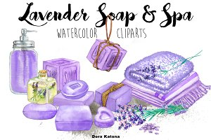 Lavender Soap & Spa Set