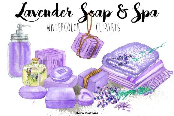 Lavender Soap & Spa Set