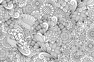 Outline of elegant seamless pattern