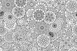 Outline of circular seamless pattern