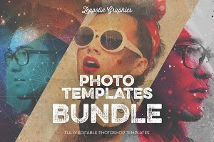 Vintage Hipster Art Templates Bundle