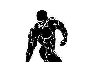 strongman, bodybuilding concept