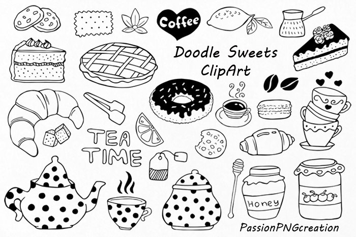 Doodle Sweets clipart ~ Illustrations ~ Creative Market