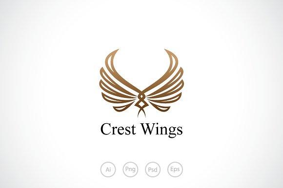 wings crest logo template logo templates creative market
