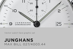 Watch face vector drawing- Max Bill