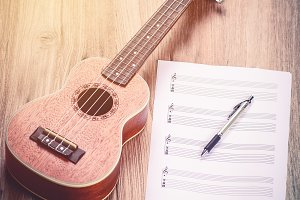 Ukulele background