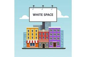 Large blank urban billboard