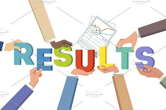Teamwork results achievement concept