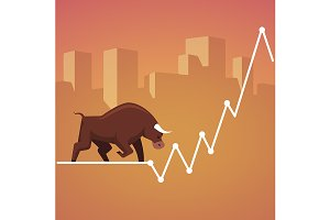 Stock exchange market bulls