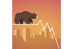 Stock exchange market bears metaphor