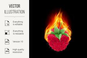 Burning raspberry