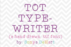 Tot Typewriter a Hand Drawn Font