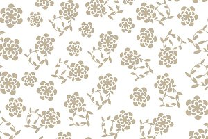 Five  vector  floral seamless