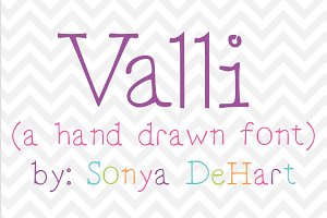 Valli a Hand Drawn Font