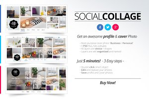Social Collage | Profile & Cover