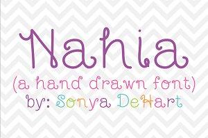 Nahia a Hand Drawn Font