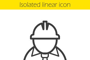 Engineer linear icon. Vector