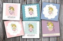 6 birthday cards. little fairy