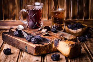 Turkish tea cup with dates