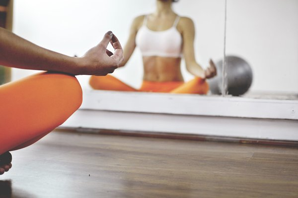 Yoga in the fitness studio