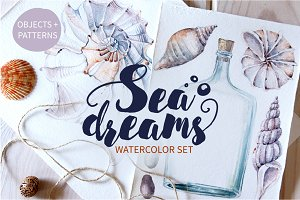 SEA DREAMS watercolor set