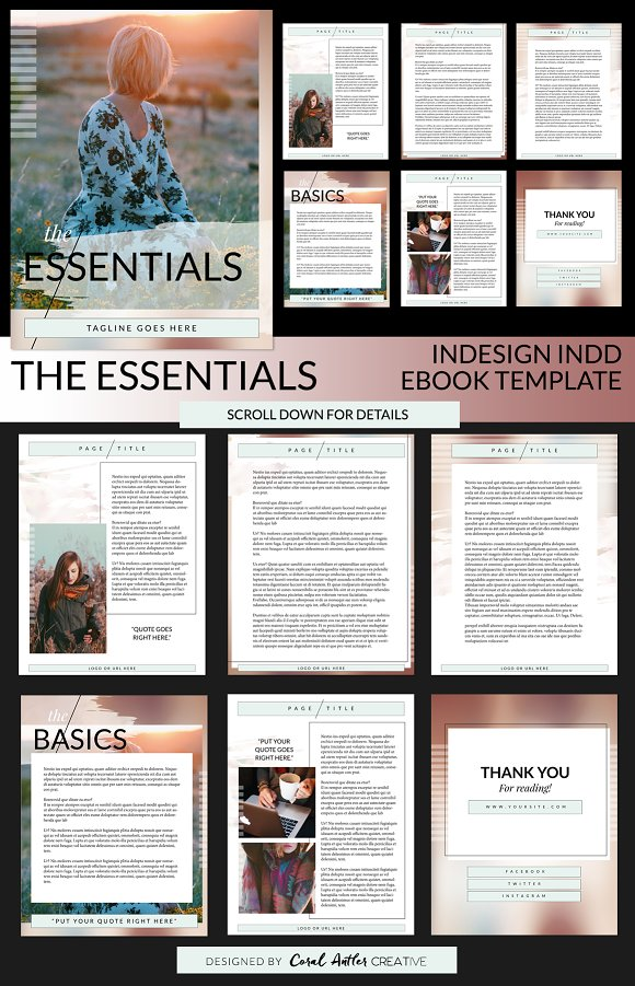the essentials indd ebook template presentation templates on