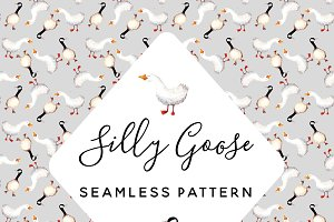 Silly Goose Seamless Pattern