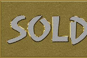 Golden Diamond Sold Tag
