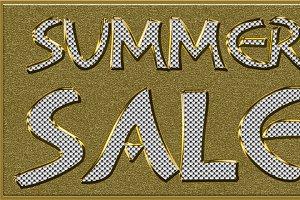 Summer Sales Golden Seasonal Tag