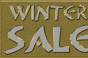 Winter Sales Golden Seasonal Tag