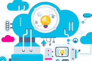 Flat cloud technology service