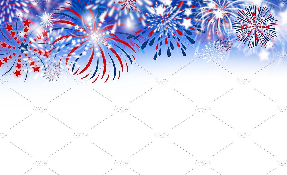 Fireworks on white background ~ Illustrations ~ Creative ...