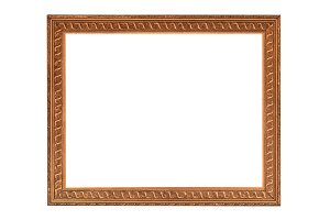 Gold frame Elegant vintage Isolated