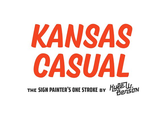 Kansas Casual Display Fonts Creative Market