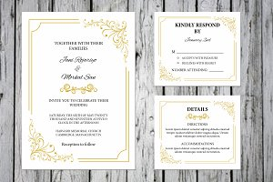 Wedding Invitation Template Suite