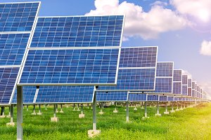 Power plant use renewable solar cell
