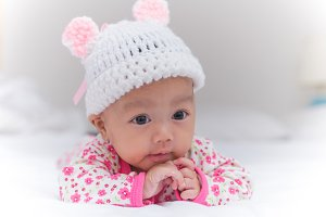 Portrait of cute baby girl