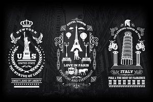 9 Vintage City Logo