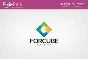 Four Cube Logo Template