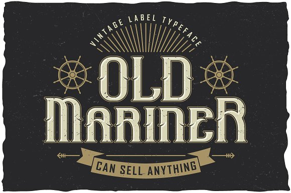 Old Mariner Label Typeface