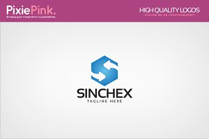 Sinc Hex Logo Template