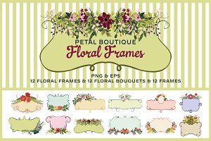 Hand Drawn Floral Frames