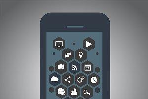 Smartphone material design dark