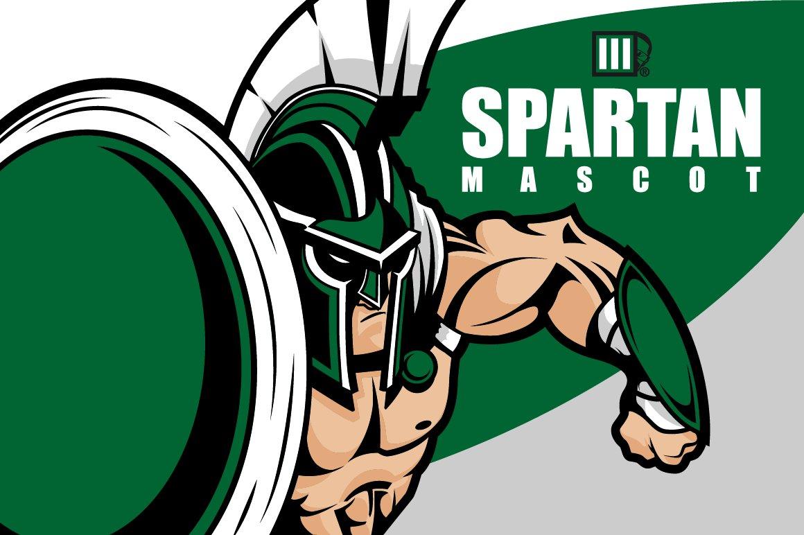 spartan mascot stock vector graphics creative market