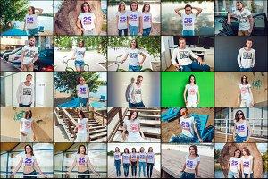25 T-Shirts Mock-Up (Part 1)