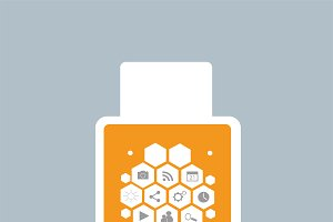 Smart watch material design orange