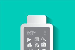 Smart phone material design neon