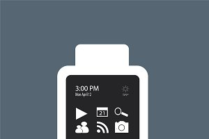 Smart watch material design gray