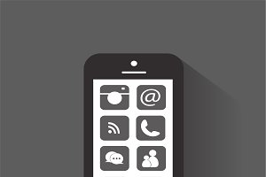 Smartphone material design black
